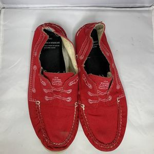 Sperry X Band Of Outsiders Boat Shoes Size 10M Red